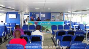 Main cabin (Coco De Mer class) of Cat Cocos ferry
