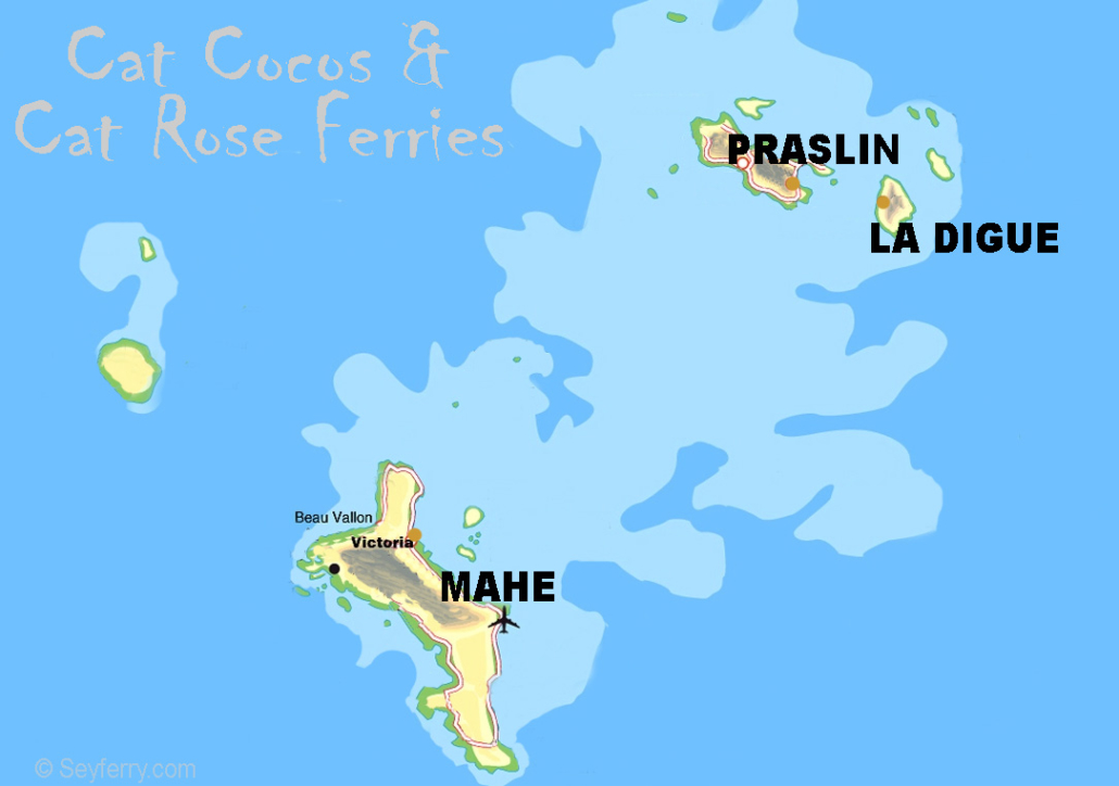 Seychelles ferry map